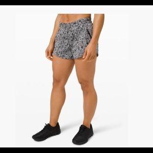 NWT Brand new lululemon running shorts black/white